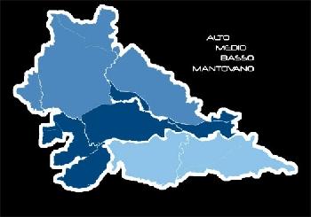 Cartina Geografica Della Provincia Di Mantova.Provincia Di Mantova Comuni